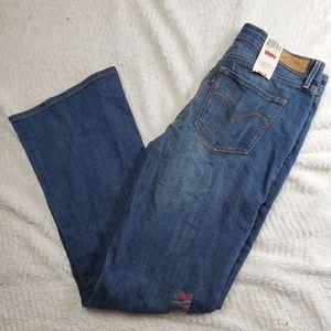 New Levis Jeans 12 Demi Curve Bootcut Stretch